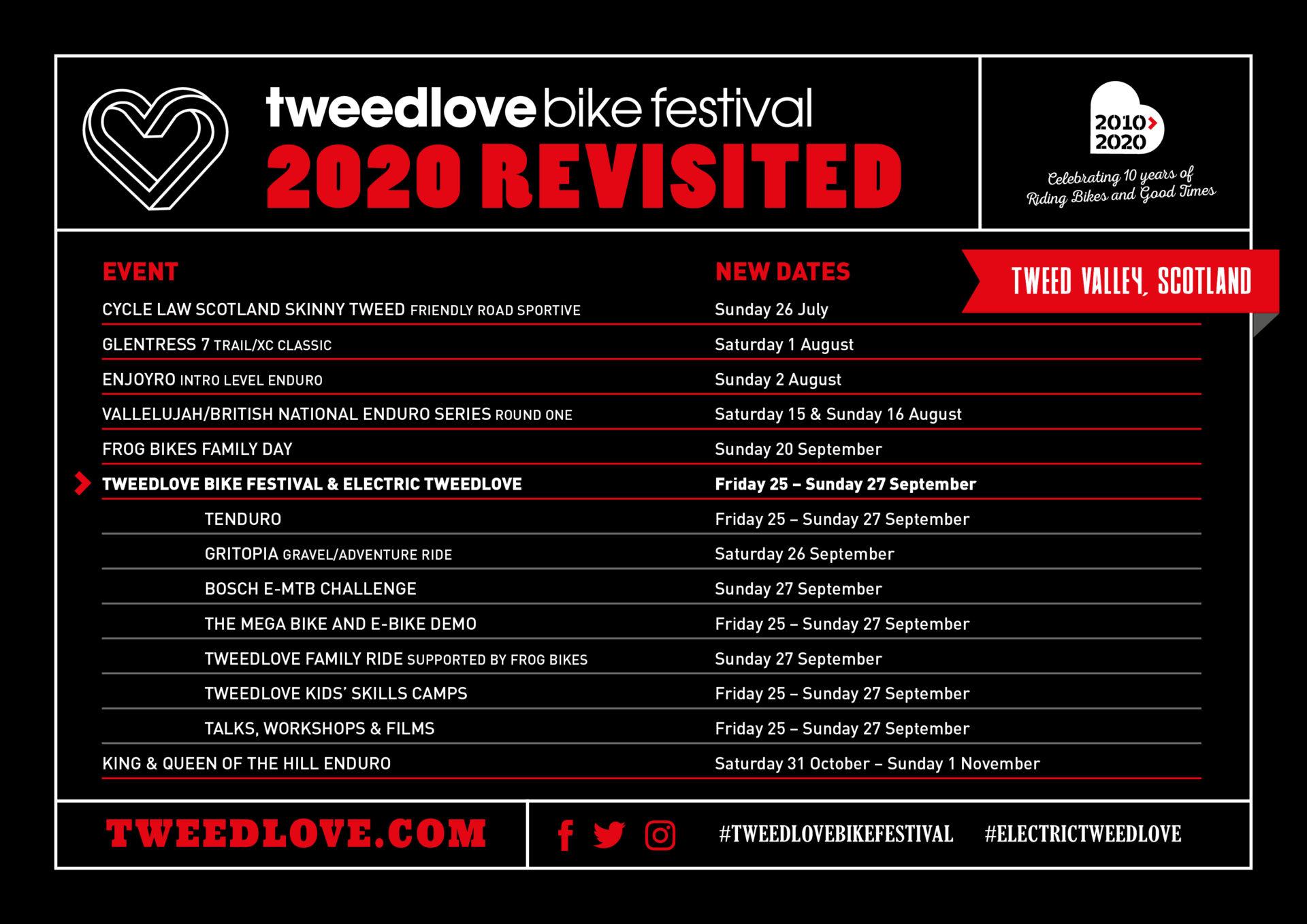 TweedLove 2020 New Dates